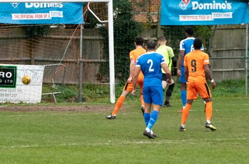...and gives Hartley Wintney a 32nd minute lead
