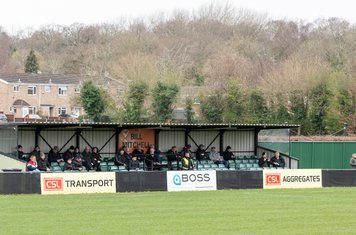 The main stand at a rather exposed ground