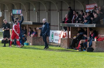 Michael Bryan comes off to applause as Steve Baker uses his three subs