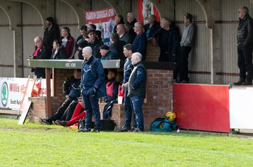 The Borough Management look pensive as Frome look for their winner
