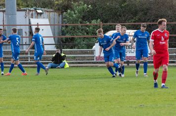 Frome celebrate the first of Troy Simpson's goals, in the 55th minute