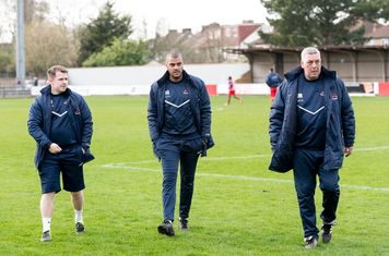 Danny Greaves and his team prepare for a second half revival