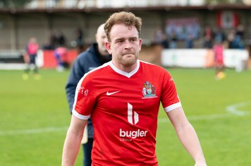 Mark Bitmead scores his first league goal for Borough...
