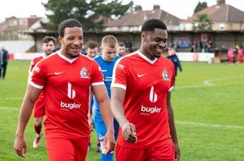 Shaun Preddie and Nathaniel Oseni in good spirits