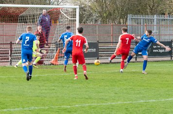 ...and guides it into the net...