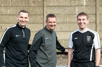 Referee Mr Donnellan and his Assistants