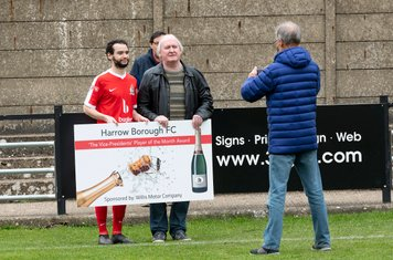 Michael Bryan receives the Player of the Month Award for March after some sparkling recent performances