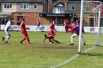 ...and Lewis Cole nearly makes contact