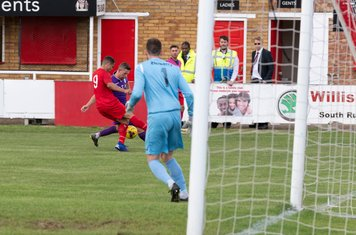 Anthony O'Connor's persistence wins a free kick...