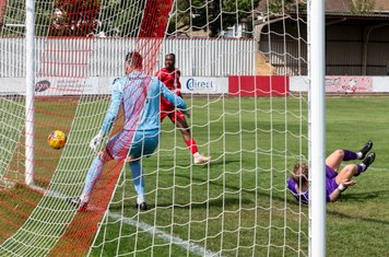 ...it looks as though Frank Keita's shot will go in...