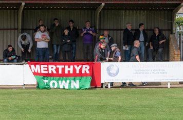 A long trip for the Merthyr supporters