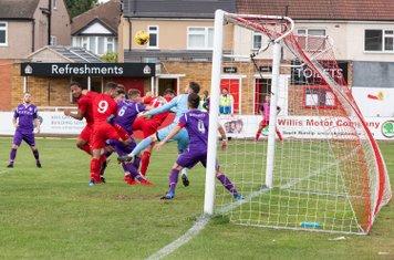 Borough's first goal of the new season