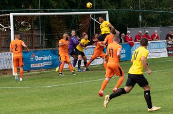 Shaun Preddie goes close, but Hartley Wintney have a deserved half time lead