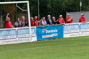 ...the Borough supporters show their feelings