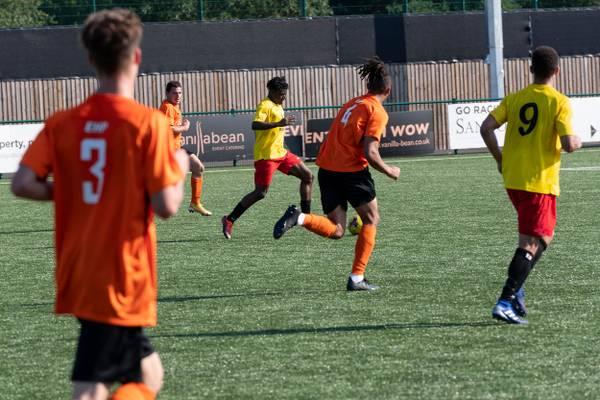 ...with Kensley Maloney's precision pass reaching debutant Kunle Otudeko...