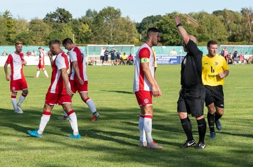 ...with a yellow card for the Poole Captain