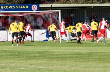 ...and Harry Baker gives Poole a 4th minute lead