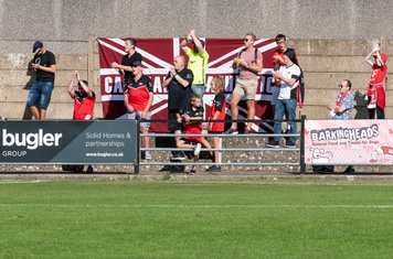 ...and the Carshalton fans gasp