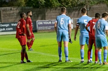 Ryan Moss prepares to take a penalty after he is fouled...
