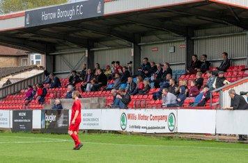 All eyes on the Harrow goalmouth