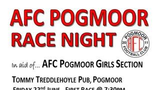 AFC Pogmoor Girls Race Night