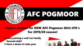 Players Wanted - New Girls Team for 2019/20