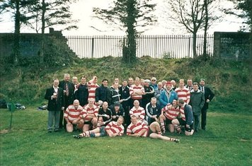 """Cork 2000 team - my only """"!st XV"""" appearance . . ."""