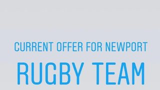 Sports Massage Shropshire  Offer for Newport Rugby Players