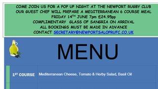 Mediterranean Night 14th of June  - Guest Chef