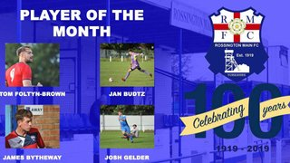 September player of the month nominations
