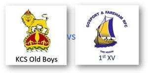 KCS Old Boys vs Gosport & Fareham 1st XV