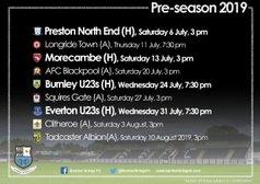 2019/20 Pre-Season Fixtures (Updated)
