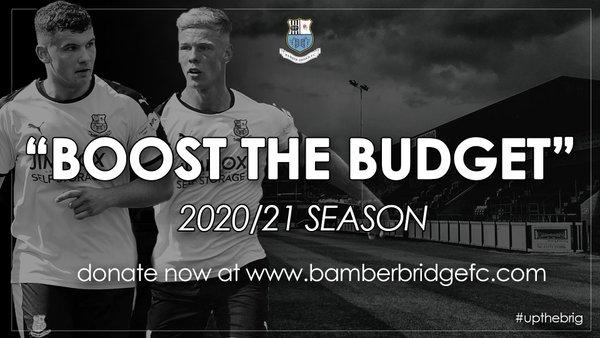 Boost the Budget 20/21 Season