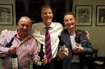 Clubmen of the Year Andy Scott & Pete Underwood, receiving their prizes from Ian Parker
