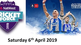 Help Out at CricketForce & Watch Brighton in the FA Cup Semi Final - Saturday 6th April