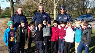 Our U8 Tornadoes and Typhoons play Footgolf