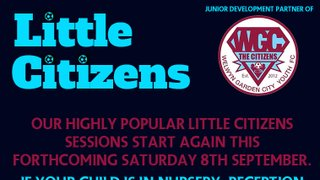 Little Citizens starts this forthcoming Saturday!
