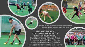 Walking Hockey resumes Thursday 29th August!