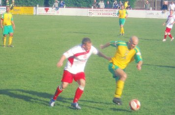 Mullarkey battles for the ball