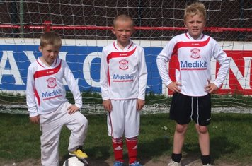 The Mascots Callum, Jack and Clayton