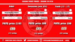 Season ticket/corporate hospitality/sponsorship information