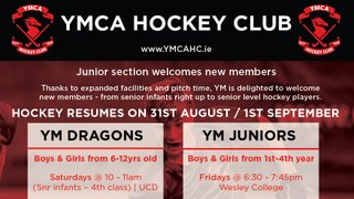 Junior Section Training Resumes 31st August
