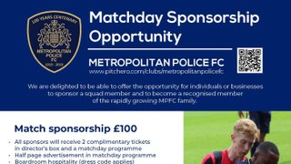 Matchday Sponsorship Opportunities