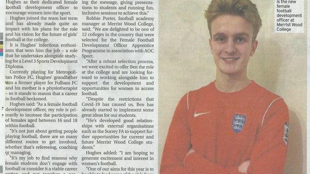 Congratulations Ben Hughes