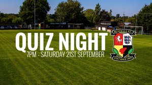 Quiz Night: Saturday 21st September