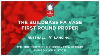 FA VASE: Saturday 12th October!