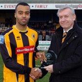 Weir-Daley receives United memento