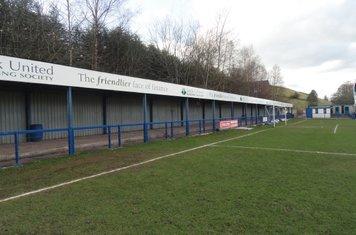 Kiln Lane end, pitch side.