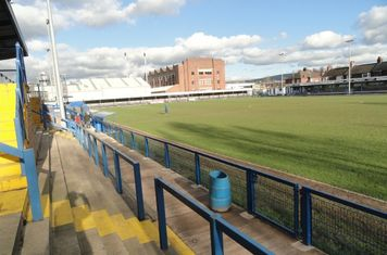Main stand, spectator side.