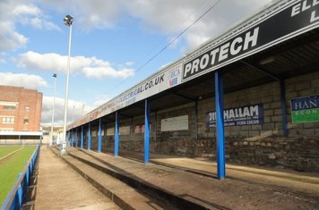 The Protech Stand on the Grace Street side.